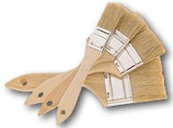 Industrial Paint Brushes used in commerical applications, industrial cleaning and art applications
